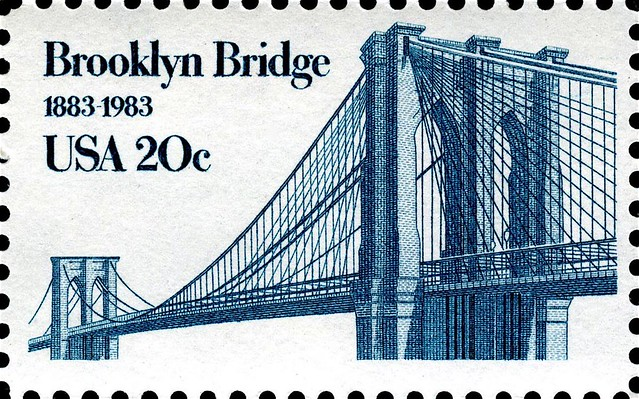 U.S. Postage Stamp, Brooklyn Bridge, New York City