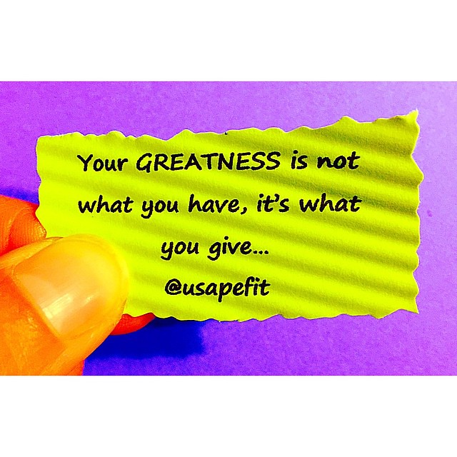 Happy Friday Eve! Yay! Workout time! Greatness is not what ...