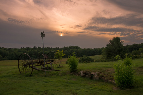 sunset summer sky clouds maine wells thefarm
