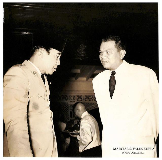 President Ramon Magsaysay with President Sukarno