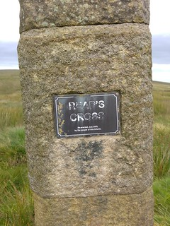Plaque on Reaps Cross, Heptonstall Moor | by pluralzed