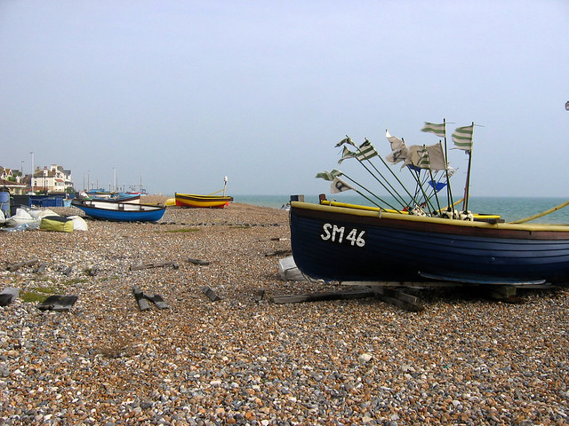 Fishing boats at East Worthing