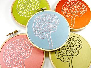 Brain Anatomy Hoop Art. Hand Embroidered Wall Decor | by Hey Paul Studios