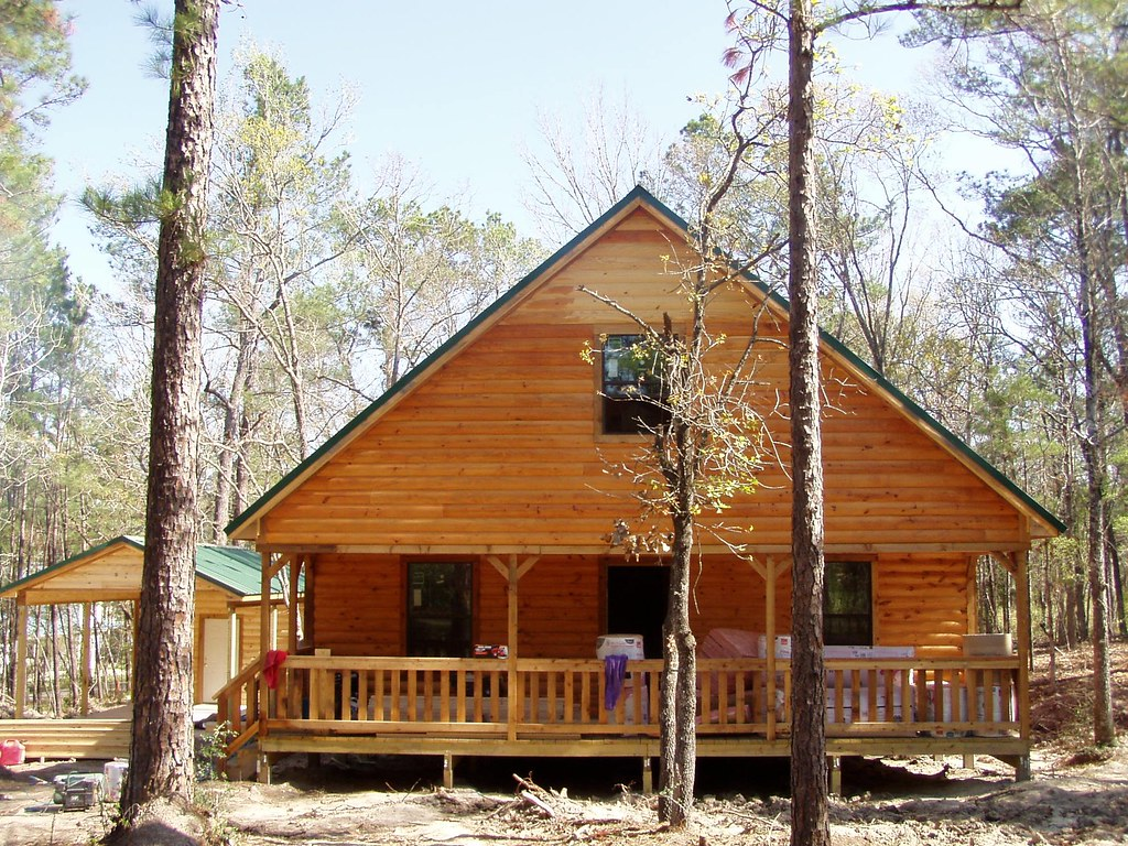 30' X 40' One-and-a-half Story Cabin With
