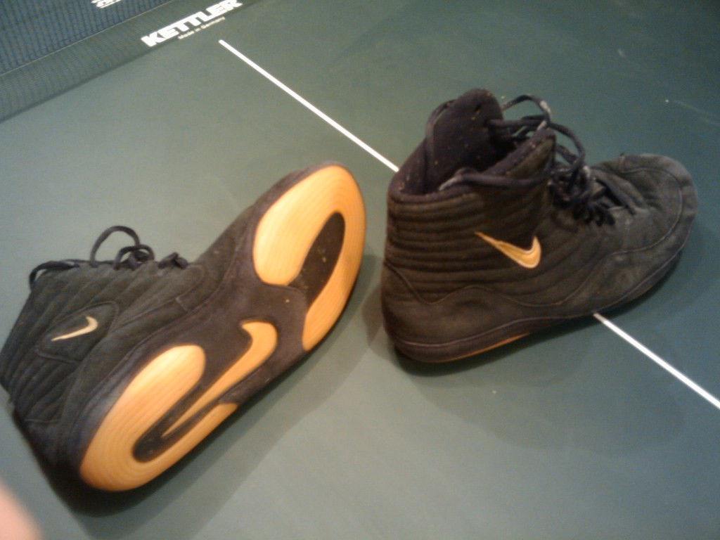 Nike Inflicts Wrestling Black and Gold 10.5 GONE