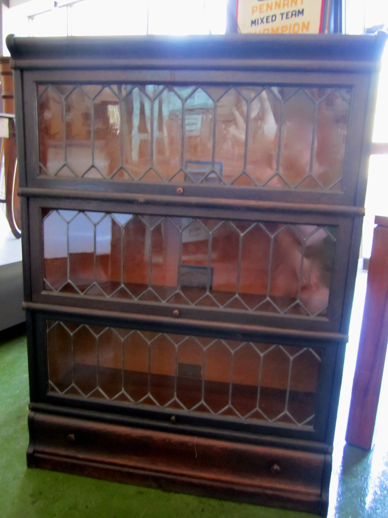 Barrister Bookcase With Leaded Glass Windows Sold
