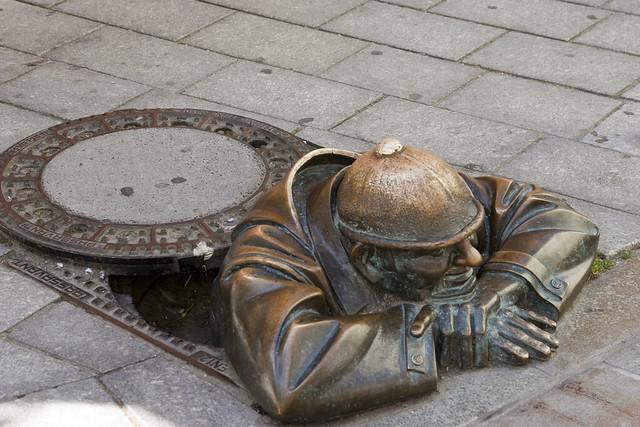 Manhole cover, Bratislava, Slovakia