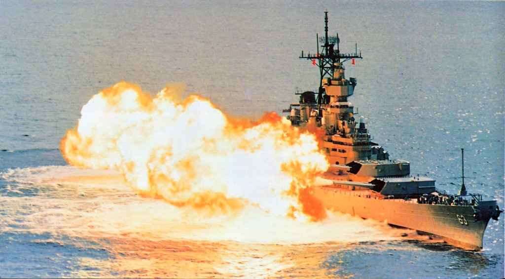 Sept  30, 1986: USS MISSOURI fires a reduced charge, stagg