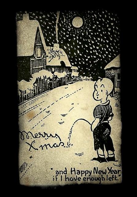 """Postkarte /""""Fichten im Schneesturm/"""" von paruspaper"""