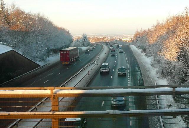 Edinburgh: Snow covered City Bypass