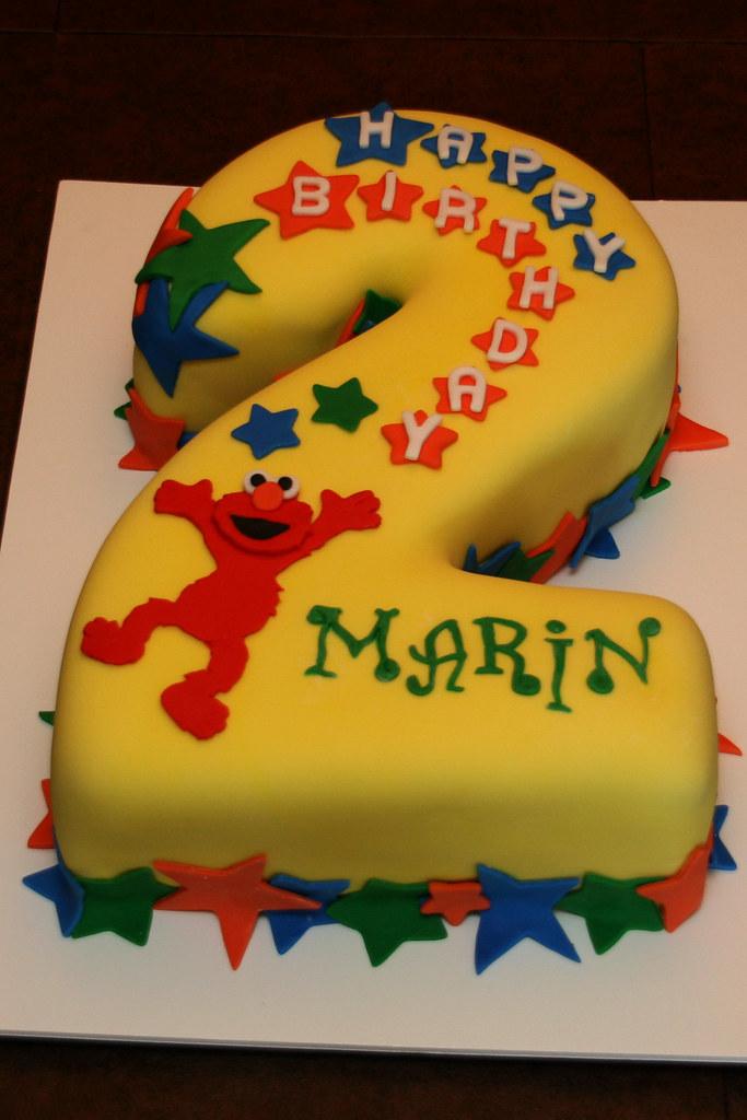 2nd Birthday Elmo Cake Yay I Finally Got To Make A Cake T