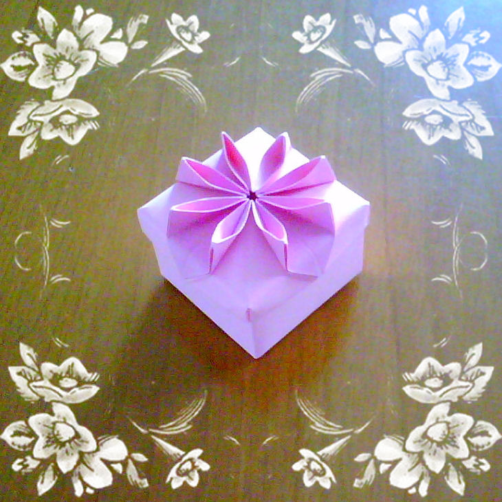 Origami Flower Box Step By Step - All About Craft | 730x730