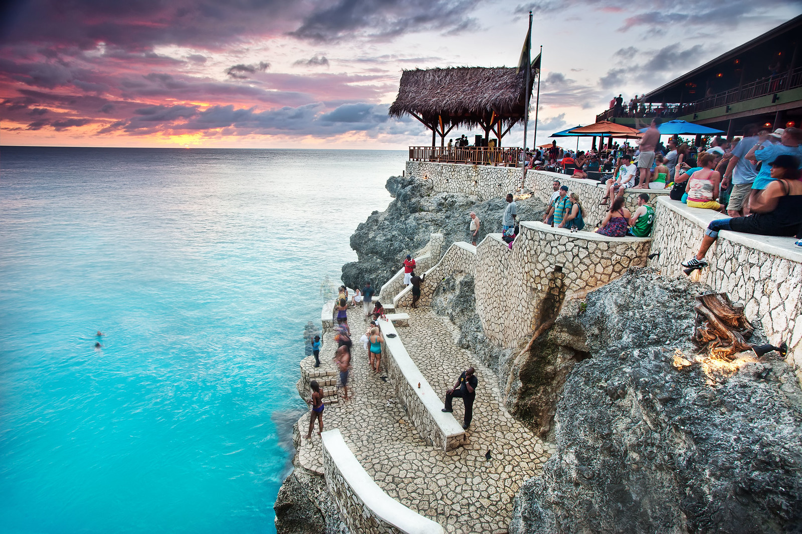 'Jump On In', Jamaica, Negril, Ricks Cafe Sunset