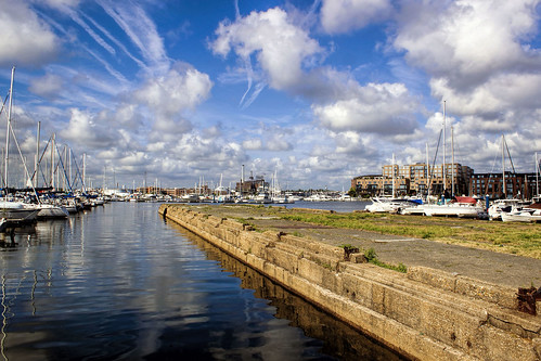 dock pier canton baltimore city harbor patapsco river maryland saiboat