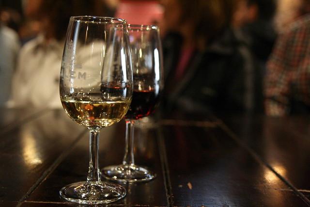 Porto, black and white wine