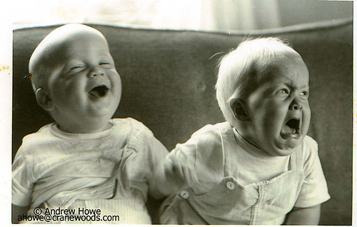 Laughing and crying babies (at same time) picture