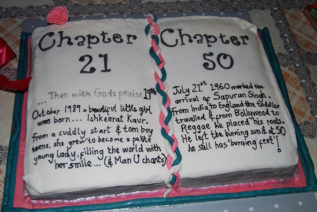 Super 21St 50Th Birthday Book Cake Harmohan Kaur Flickr Personalised Birthday Cards Xaembasilily Jamesorg