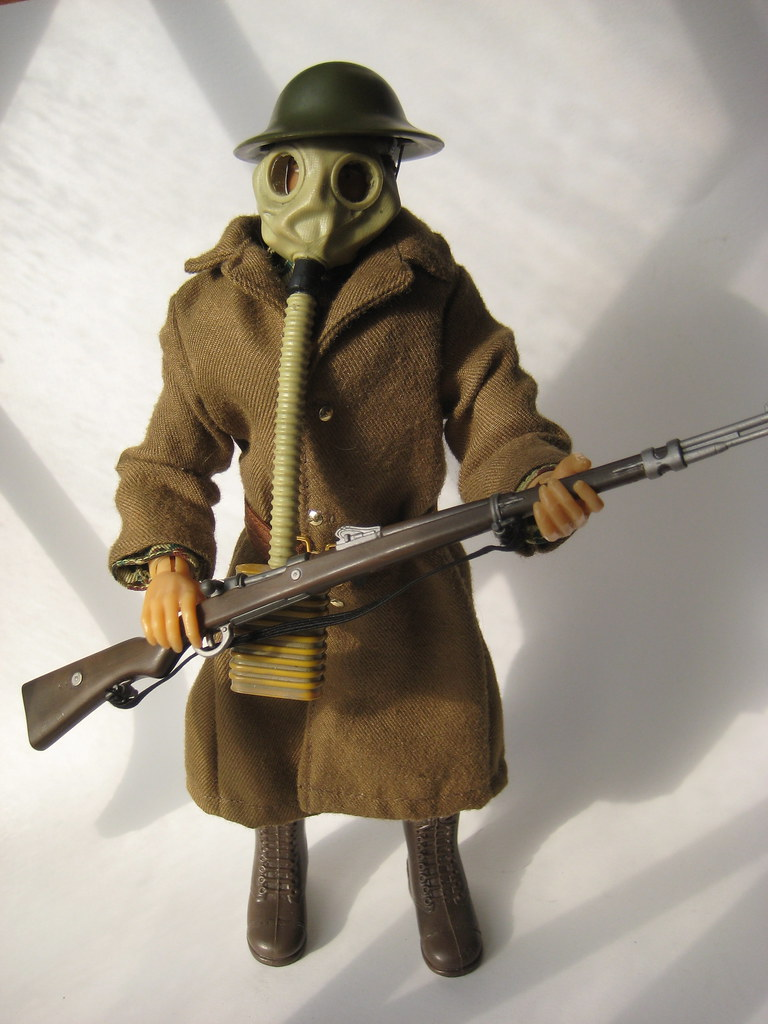 GI Joe WWI Doughboy American Soldier with Gas Mask 1053   Flickr