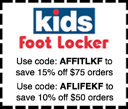 photo about Foot Locker Printable Coupons identify children footlocker coupon codes Children Foot Locker discount coupons; AFFITLKF