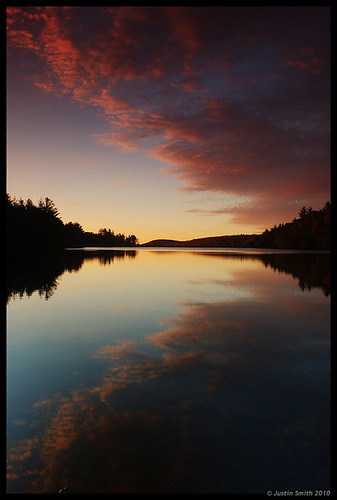 reflection water clouds sunrise massachusetts nikond50 justinsmith fitchburgma leefilters nikon1735mmf28 lovellreservoir