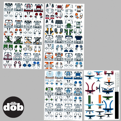 Stickers For Lego In A Star Wars Style Clone Wars Trooper Decals Lego Bausteine Bauzubehor