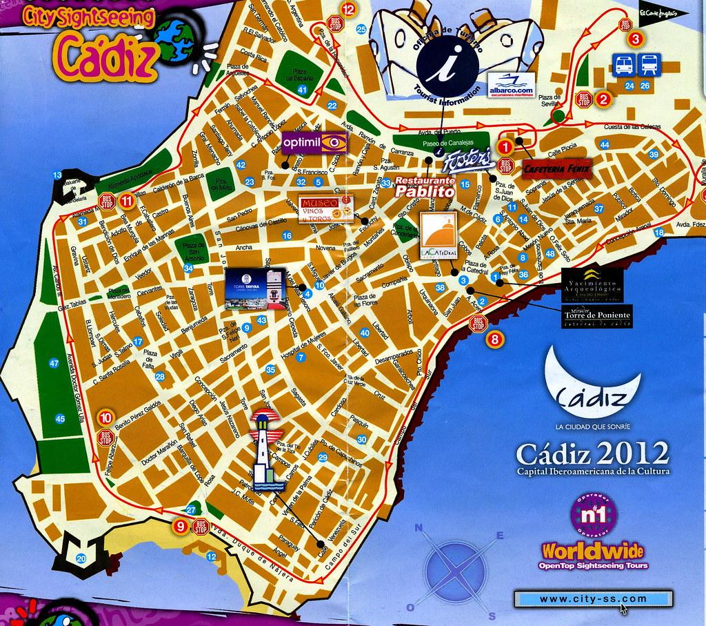 Karte Andalusien Cadiz.2010 Z120 Cadiz Stadtplan Wolfgang Appel Flickr