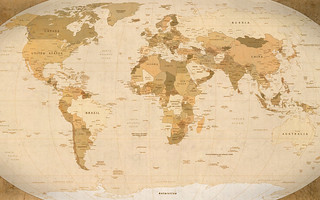 World Map Parchment wallpaper (1920x1200)   by GuySie