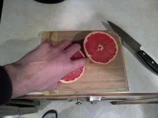 18/365: Cutting up the pamplemousse