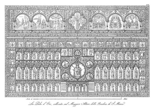 Venice, Pala d'oro - the byzantine altar retable of San Marco