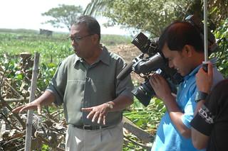 Shykh Seraj narrates on 'floating agriculture' in Gopalganj