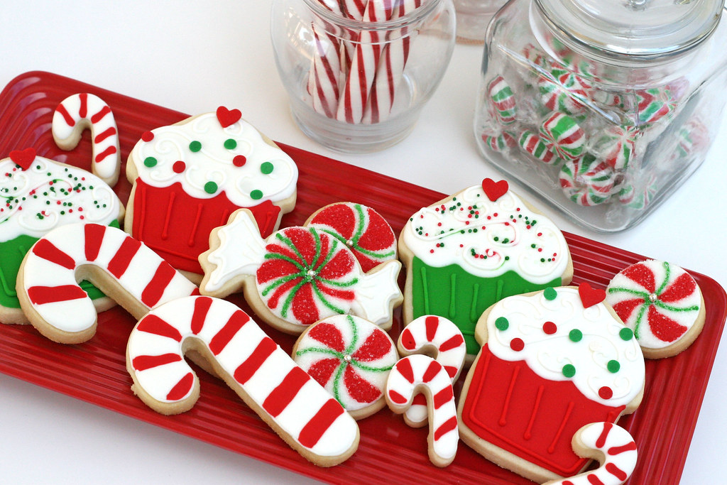 Sweet Christmas Cookies Sweets Themed Christmas Cookies Flickr