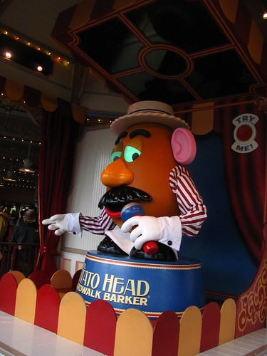 Mr. Potato-Head, Boardwalk Barker for Toy Story Midway Mania | by Castles, Capes & Clones