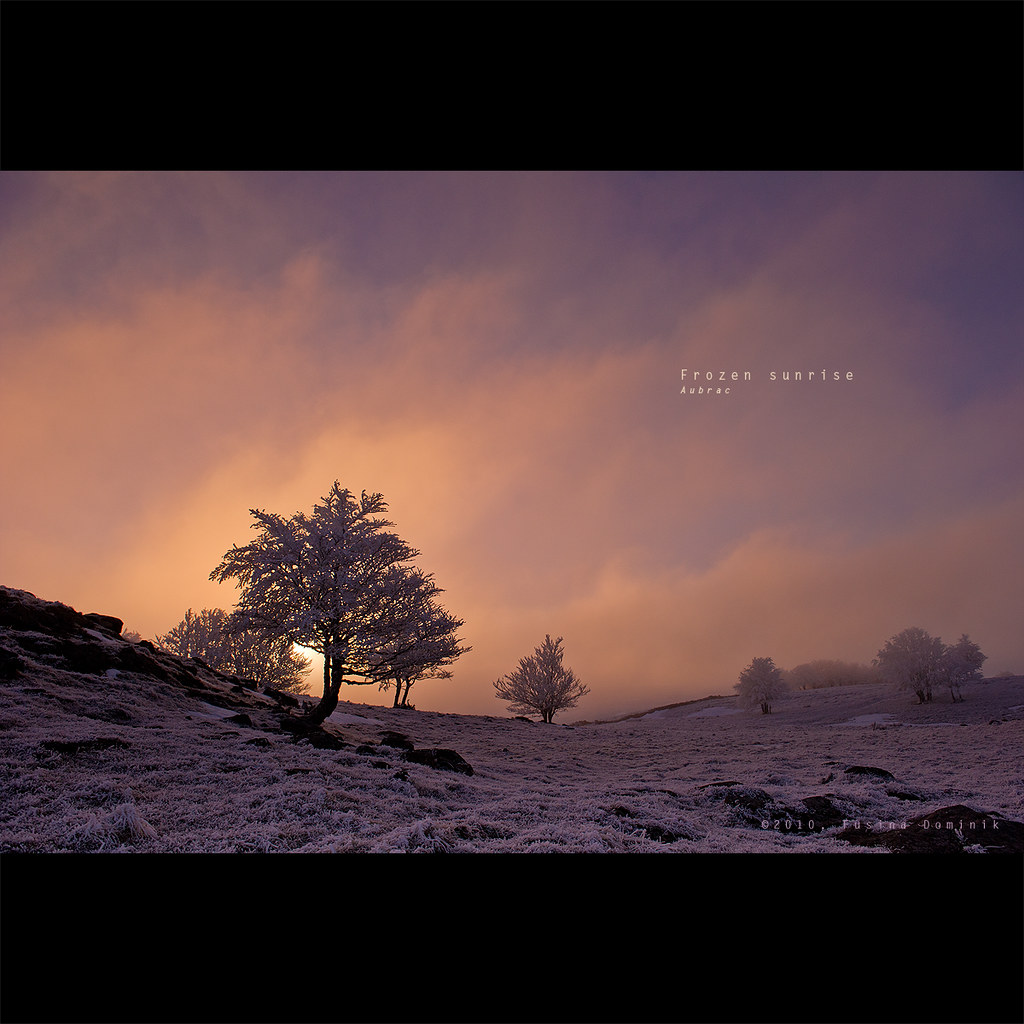 Frozen sunrise - Aubrac