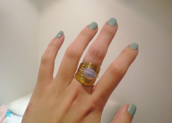 elf mint green nail polish | www.heartmixtures.com | Flickr