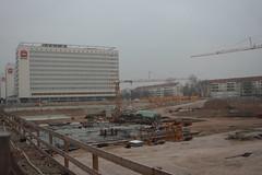 Baugrube der Centrum-Galerie in Dresden 2007-12-30