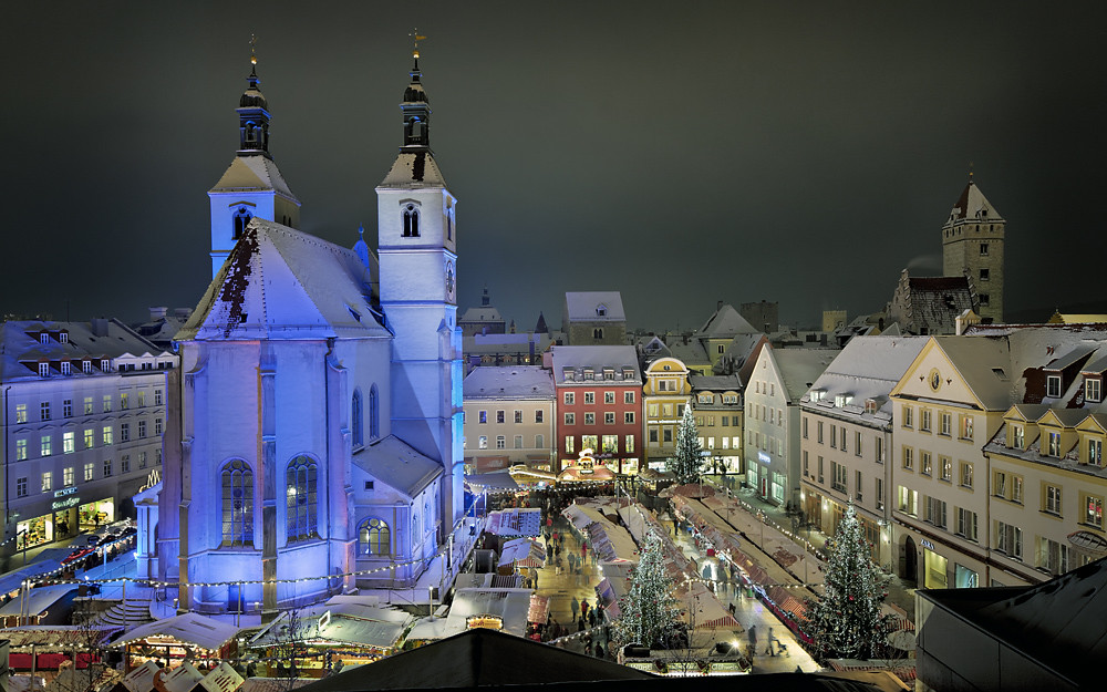 Neupfarrplatz Regensburg Christkindlmarkt