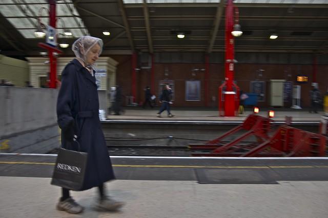 Running for the train on Platform 1