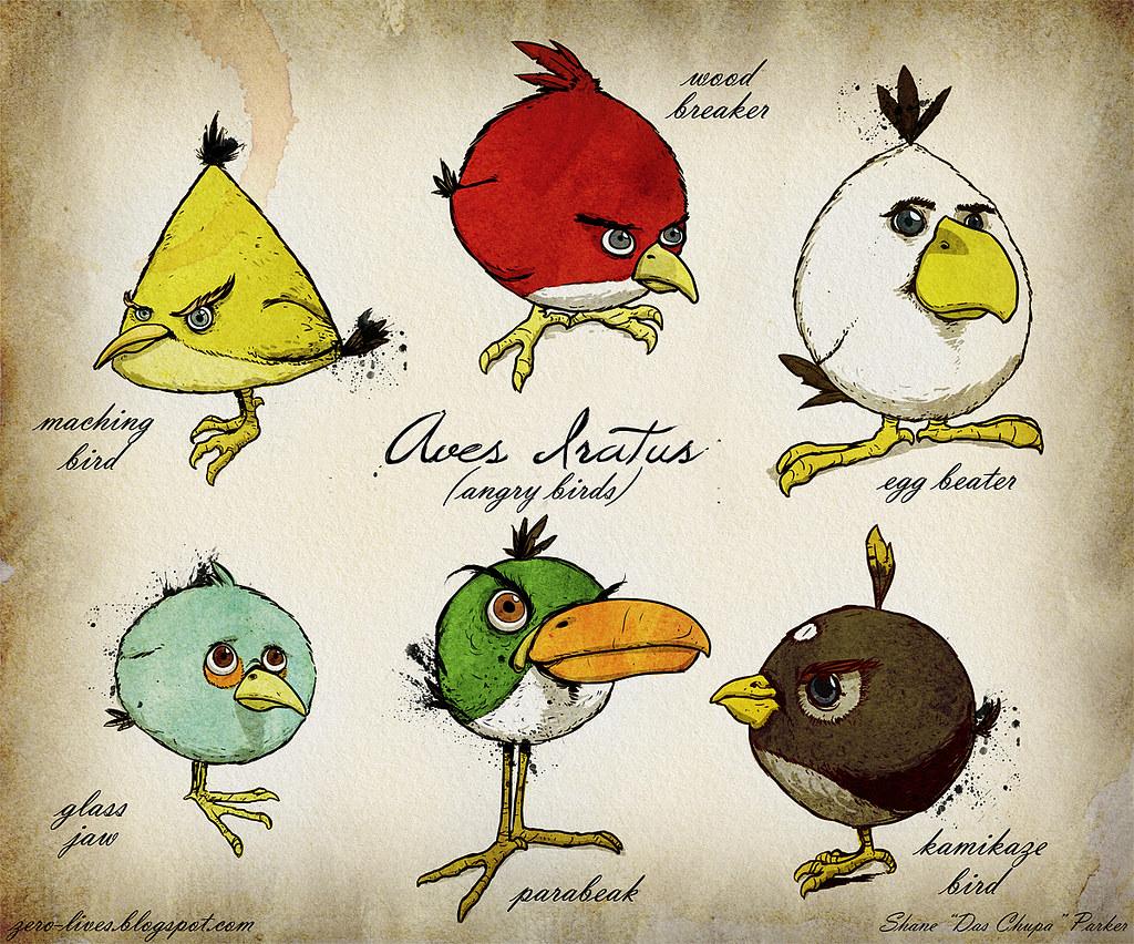 Angry bird drawings by hahatango