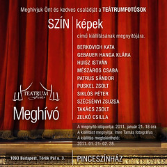 2011. január 7. 15:50 - SZÍN-képek – a Teátrumfotó kiállítása