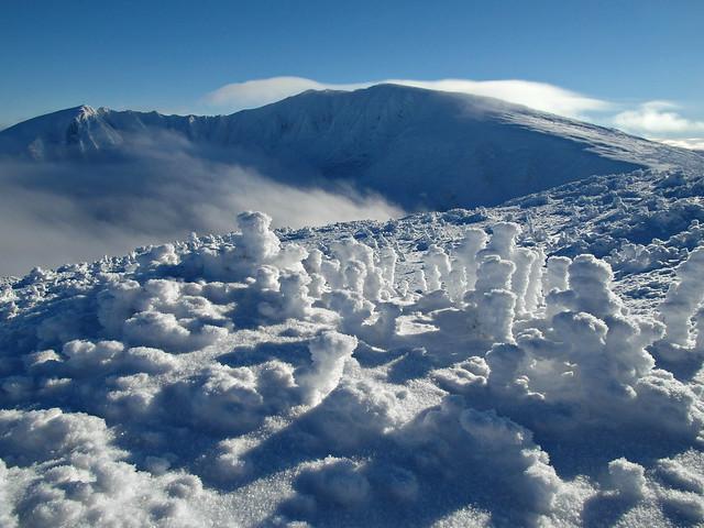 katahdin summit and the knife edge from hamlin ridge