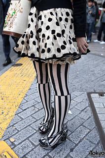 bf54e48895d Striped Tights   Polka Dots in Shibuya