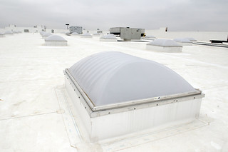 White roof and skylights on Romeoville, Ill. Walmart | by Walmart Corporate