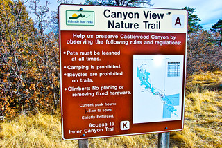 Castlewood Canyon State Park/Sign | by Rockin Robin