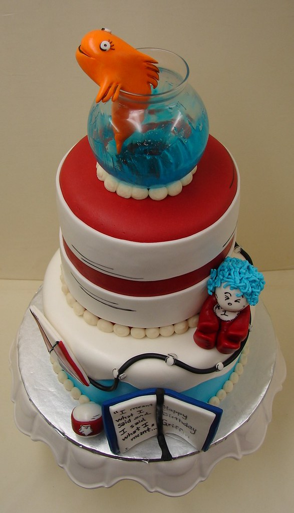 Enjoyable Cat And The Hat Birthday Cake Cat And The Hat Birthday Cak Flickr Personalised Birthday Cards Epsylily Jamesorg