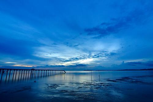 blue seascape motion night landscape interesting nikon path tokina slowshutter pasirpanjang d90 negerisembilan sirman azmanrahman