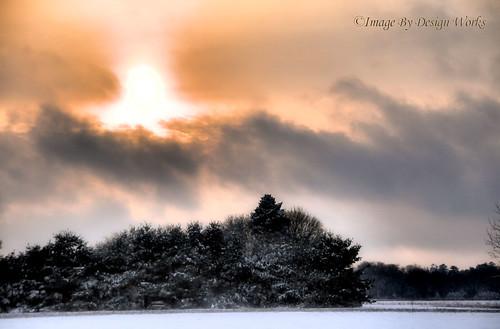 sunset sky snow nature clouds landscape imagebydesignworks