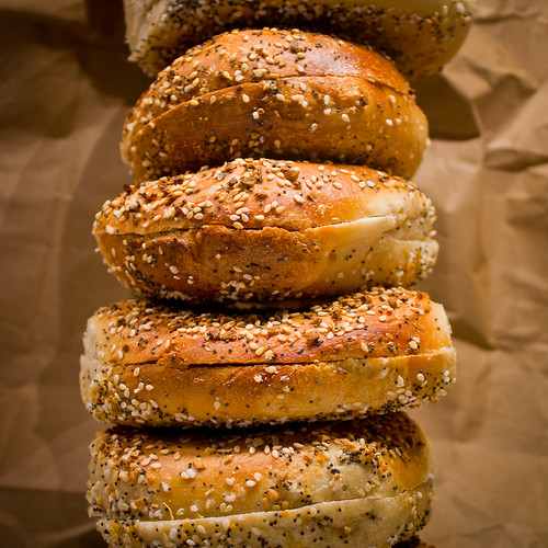 stack of everything bagels [it's the salt, stupid] | by woodleywonderworks