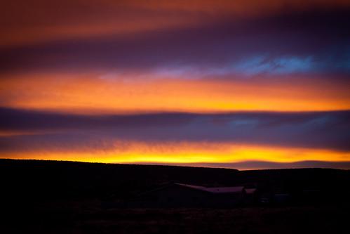 blue orange mountains newmexico yellow sunrise landscape clous
