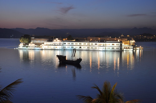 Lake Palace Hotel at Night | by kapscape