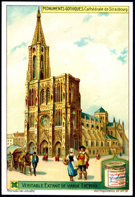 Liebig S1051 Gothic Buildings ~ Strasbourg Cathedral